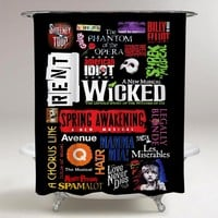 Top Famous Broadway Musical Show Collage Print On Custom Shower Curtain Limited Edition