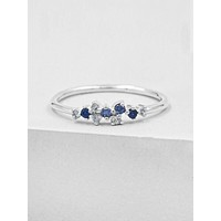 Twilight Ring - Silver + Blue