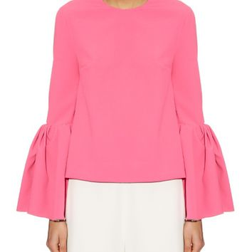 Truffaut bell-sleeve crepe top | Roksanda | MATCHESFASHION.COM US