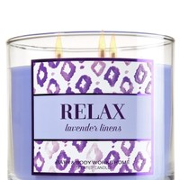 3-Wick Candle Relax - Lavender Linens