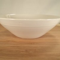 Mid-century modernist Lagardo Tackett all white ironstone Schmid bowls (3)