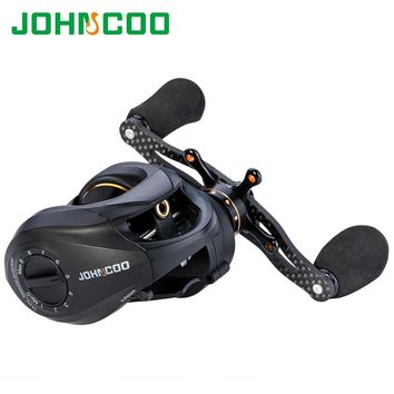 JOHNCOO Carbon Baitcasting Reel 13+1 BB Super Light Casting Reel Centrifugal and Magnetic Brake System Bass Fishing Carp Fishing