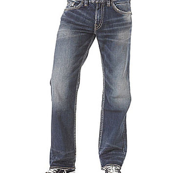 Silver Jeans Co. Zac Relaxed Straight-Leg Jeans - Indigo