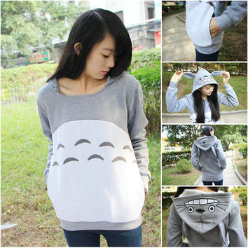 Animation Totoro Hoodie Coat My Neighbor Totoro Autumn Hoodie Unisex Jacket