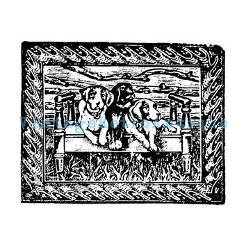 Digital Graphic Three Dogs Printable Illustration Download Image Vintage Clip Art Jpg Png Eps 18x18 HQ 300dpi No.1385