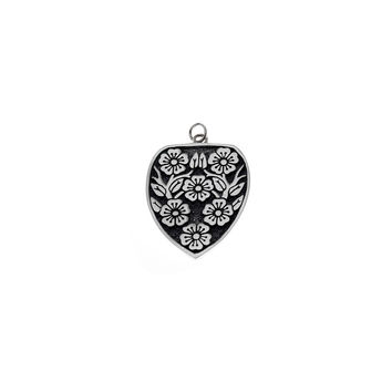 Ceremonial Kamon Sterling Silver Cherry Blossom Charm