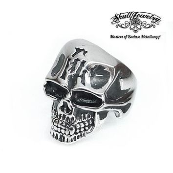 Jaw Bone Skull Ring - (4642)