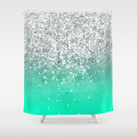 Glitteresques XXXV Shower Curtain by Rain Carnival