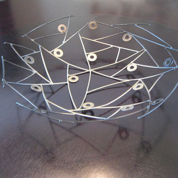 Metal Bowl  sculpture abstract  by Holly Lentz  metal art