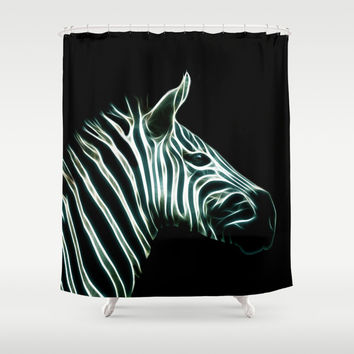 Black and white Zebra stripes Shower Curtain by Laureenr