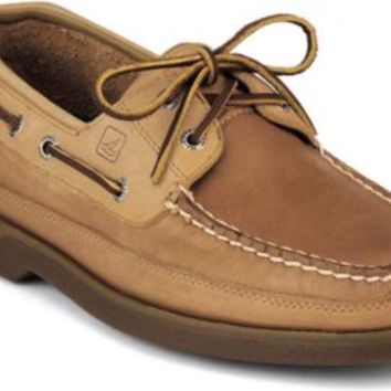 Sperry Top-Sider Mako 2-Eye Canoe Moc Boat Shoe Oak, Size 7M  Men's Shoes