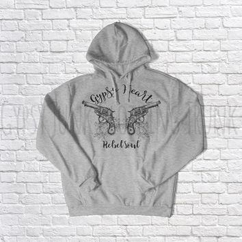 Gypsy Heart Rebel Soul - Women's Hoodie