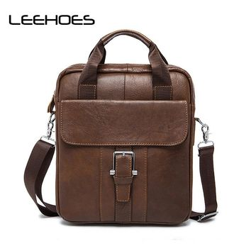 New Arrival Genuine Leather Men's Bag Shoulder Bags for Men Cross Body Bag Vintage Satchel Small Flap Business Casual Handbags