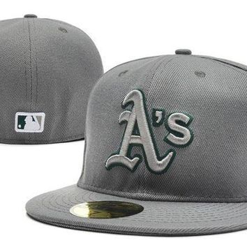 Oakland Athletics New Era Mlb Authentic Collection 59fifty Cap Grey
