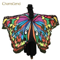 Chamsgend Coolbeener Soft Fabric Butterfly Wings Fairy Ladies Nymph Pixie Costume Accessory feb22