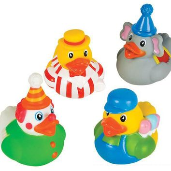 "2"" assorted circus theme rubber ducks Case of 576"