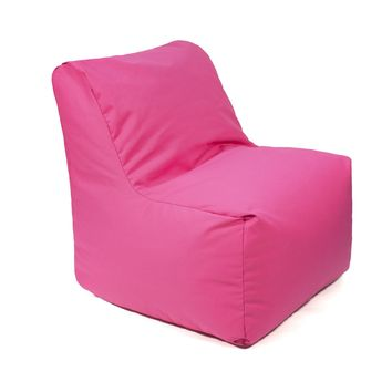 Sectional Denim Look Bean Bag Chair - Pink