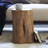 Natural Tree Stump Side Table