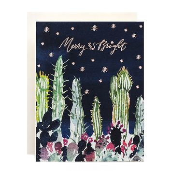 Cactus Garden Merry & Bright Card