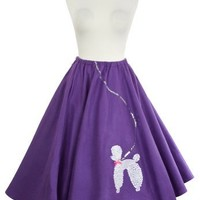 50s Felt Poodle Skirt in Retro Colors - size Adult Plus / XL by Hey Viv !