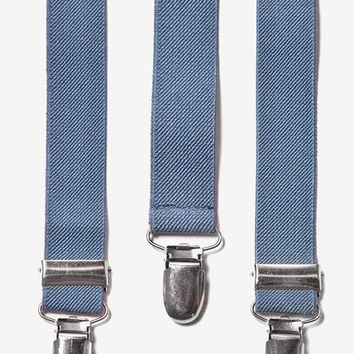 Dusty Blue Suspenders. Mens Suspenders. Groomsmens Blue Suspenders. Leather Suspenders. Groomsmen Suspenders. Father of The Bride Suspenders