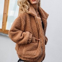 Faux Soft Lambswool jacket