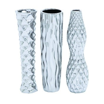 Ceramic Vase in 3 assorted Style with Subtle Curves