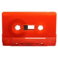 Red blank audio cassette tapes - Retro Style Media