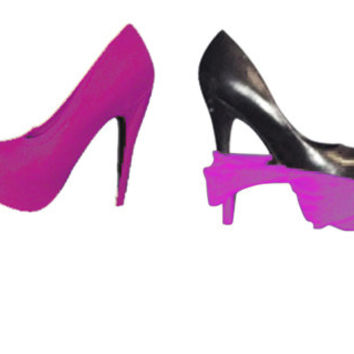 Magenta Heel Swaps Cover for your High Heels, Disguise all shoes for business to evening, girls nightout, party, event accessories