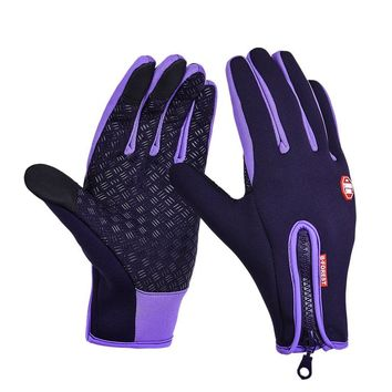 New Gloves For Men And Women Models Outdoor Fleece Touch Screen Gloves Windproof Warm Riding Gloves