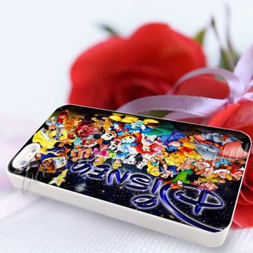 Disney Character Collage - For iPhone 4/4s, iPhone 5/5S/5C, Samsung S3 i9300, Samsung S4 i9500 Hard Case