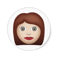 Woman Emoji Round Stickers