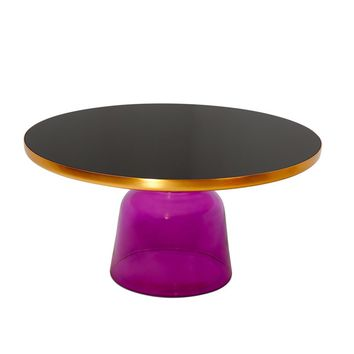Karin Table Coffee Table - Gold & Lilac