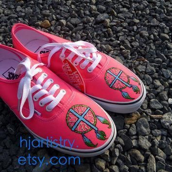 dreamcatcher cross shoes painted vans toms converse