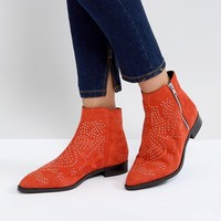 ASOS AUTO PILOT Suede Studded Ankle Boots at asos.com