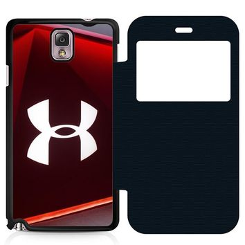 Under Armour Glass Leather Wallet Flip Case Samsung Galaxy Note 3