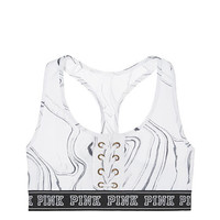 Lace-Up Cotton Crop - PINK - Victoria's Secret
