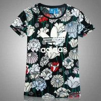 """Adidas"" Fashion Print Movement Leisure Round Neck Short Sleeve T-shirt"