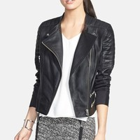 Trouve Leather Moto Jacket