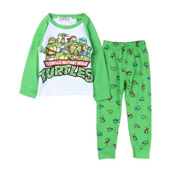 New 2017 boys Mutant Ninja Turtles Pajamas sleepwear cartoon suits costumes children kids DS16