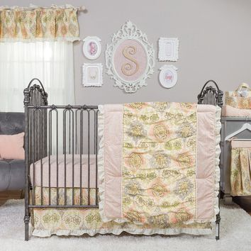 Trend Lab Waverly Rosewater Glam Baby Nursery Crib Bedding CHOOSE 3 4 5 6 PC Set