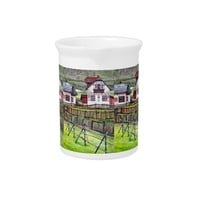 Transylvania, Romania, Picturesque Painted Scenery Drink Pitcher