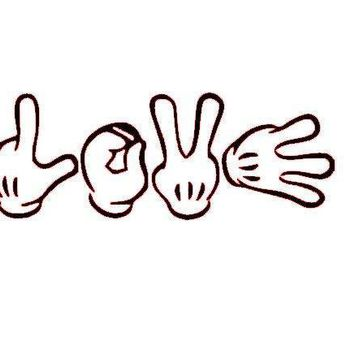 Mickey Mouse Hands Love Vinyl Window Decal Sticker
