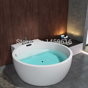 63' Sea Shipping Whirlpool Bathtub Acrylic +Abs Composite Board Piscine Massage Hot Tub W8005