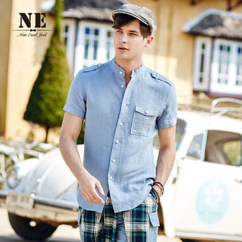 Summer Men's Fashion Short Sleeve Casual Men Shirt [7951207683]