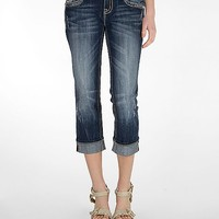 Miss Me Easy Stretch Cuffed Cropped Jean