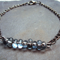 Glass Bead Bracelet Choose Your Color~ Girly Grunge ~ Soft Grunge ~ Indie Bracelet ~ Hipster Bracelet ~ Black Bracelet ~ Grunge Bracelet