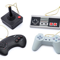 Classic Video Game Controller Ornament Set