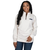 Heathered Whitacre Pullover in Ivory by Lauren James