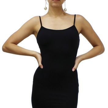 Sexy Bodycon Cami Spaghetti Strap Slim Fit Seamless Mini Dress